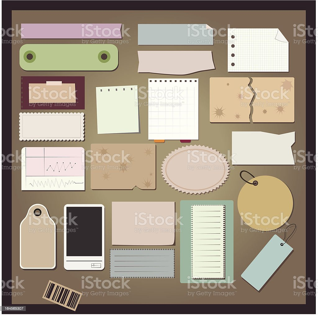 Paper set royalty-free paper set stock vector art & more images of abstract