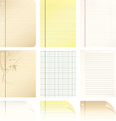 A collection of different types of paper.
