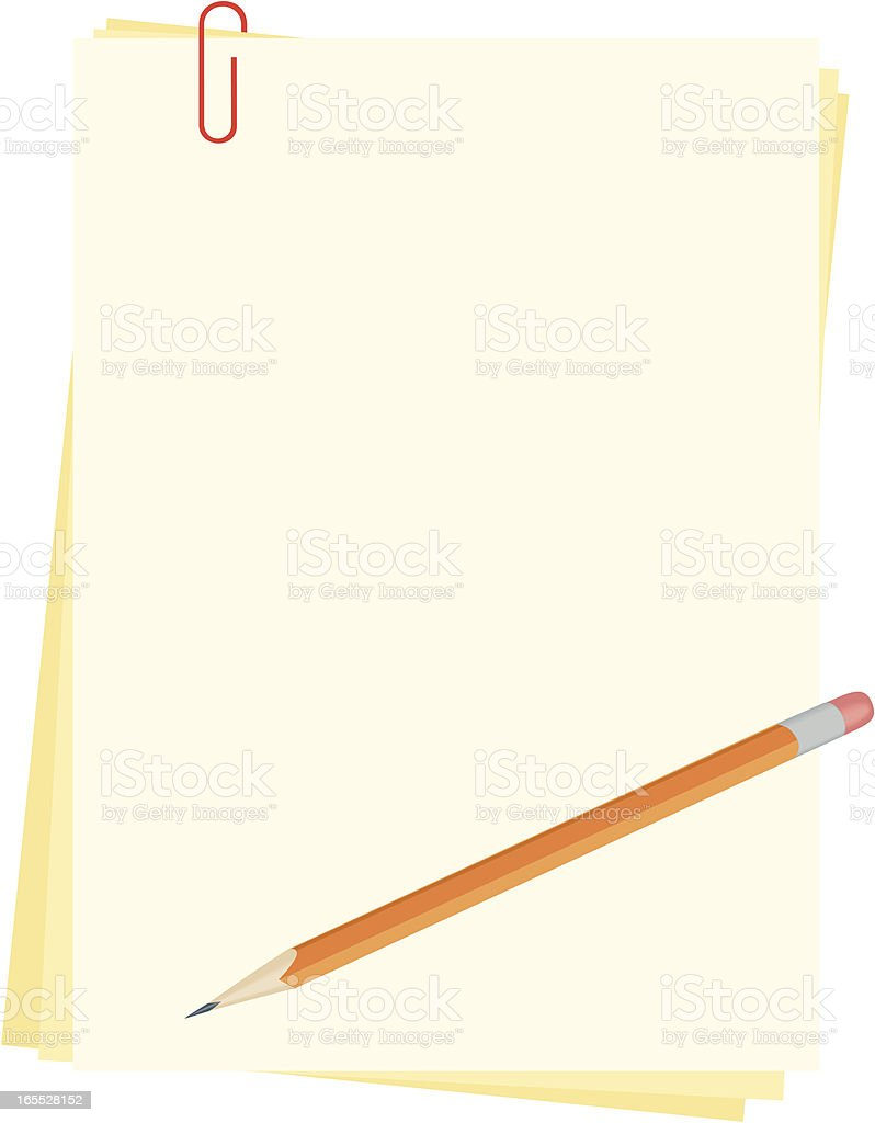paper with pencil royalty-free paper with pencil stock vector art & more images of arts culture and entertainment