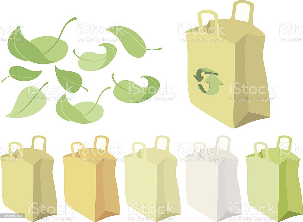 paperbag (5 recycling colors)