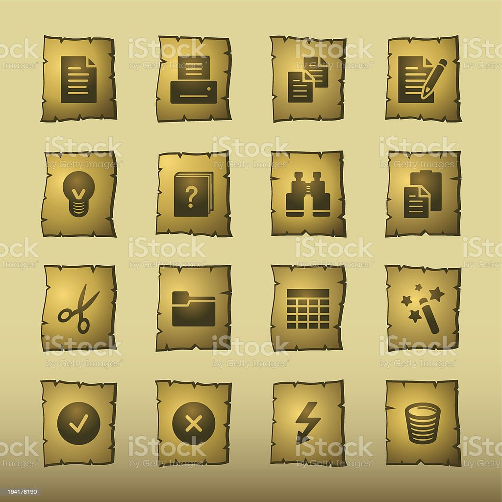 papyrus document icons royalty-free papyrus document icons stock vector art & more images of antique