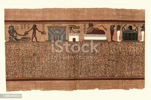 istock Papyrus of Ani, Ancient Egyptian, Endless years, Eye of Horus 1266493504