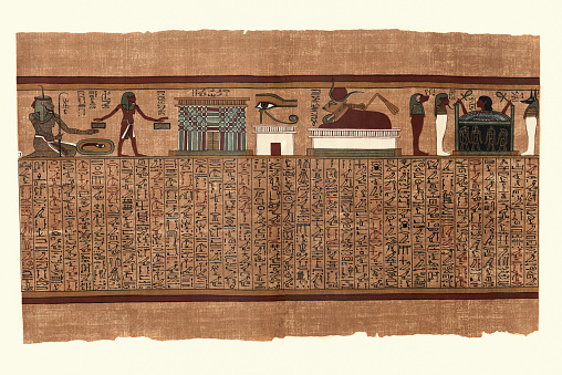 Papyrus of Ani, Ancient Egyptian, Endless years, Eye of Horus