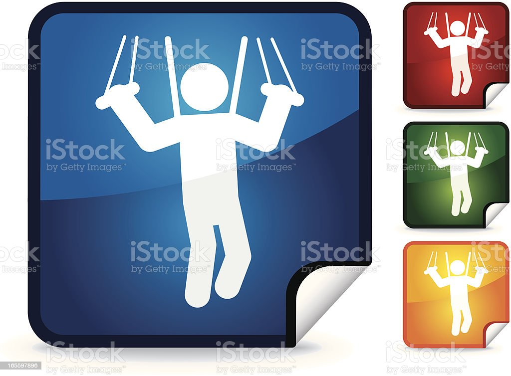 Parachuting | Sticker Collection royalty-free parachuting sticker collection stock vector art & more images of extreme sports