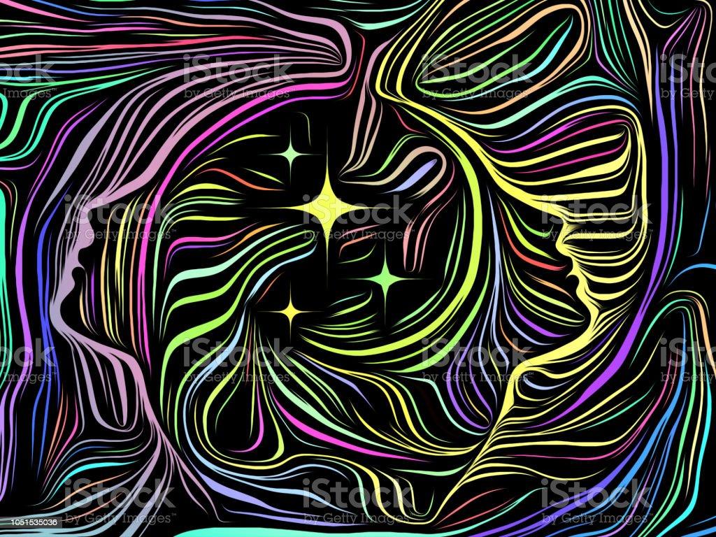Paradigm of Inner Lines vector art illustration