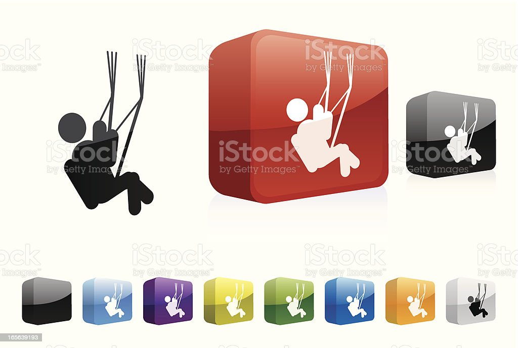 Paragliding 3d Collection Stock Illustration - Download
