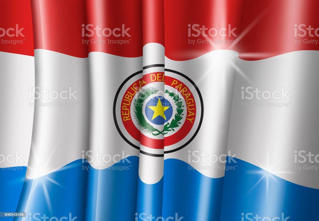 Ilustración de Paraguay de bandera paraguaya - ilustración de arte vectorial