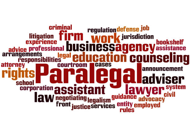 paralegal, word cloud concept 4 - paralegal stock illustrations, clip art, cartoons, & icons