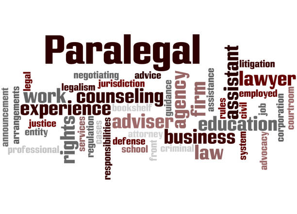 paralegal, word cloud concept 6 - paralegal stock illustrations, clip art, cartoons, & icons