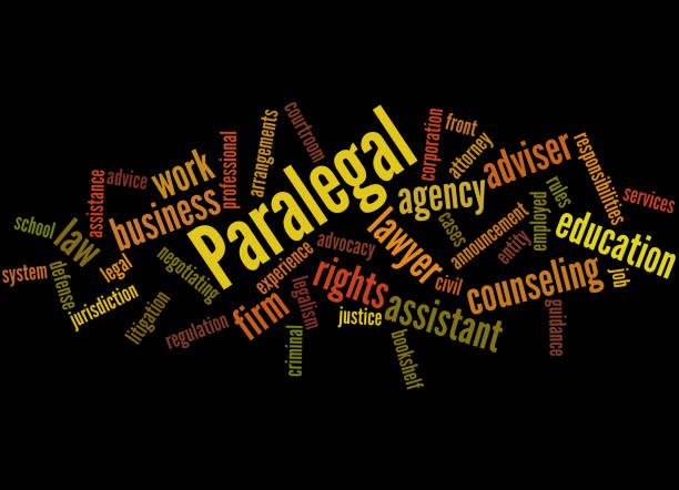 paralegal, word cloud concept 8 - paralegal stock illustrations, clip art, cartoons, & icons