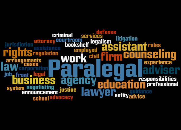 paralegal, word cloud concept 9 - paralegal stock illustrations, clip art, cartoons, & icons