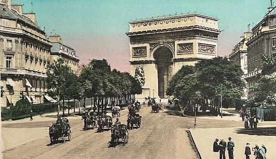 Paris, Avenue du Bois de Boulogne and Arc de Triomphe