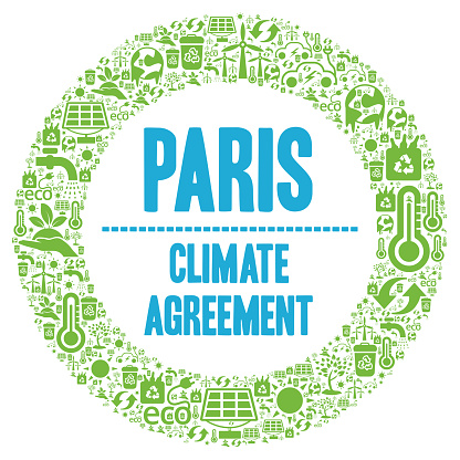 Paris climate agreement symbol