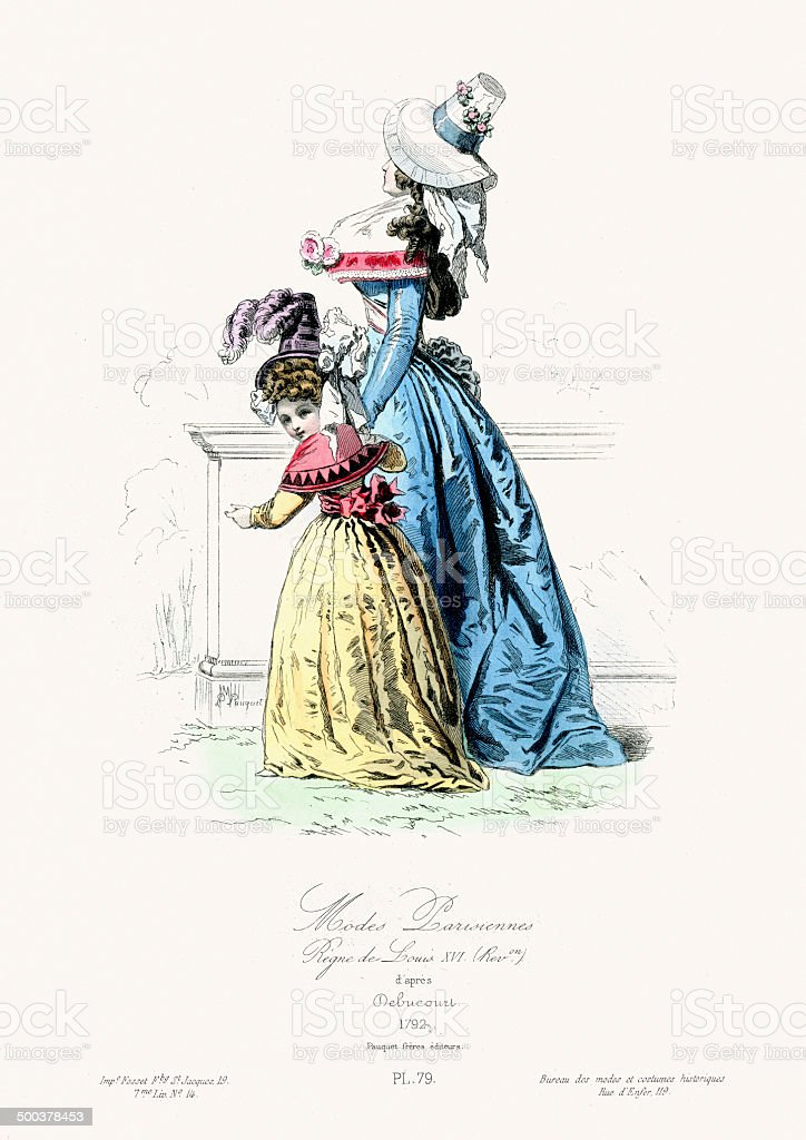 Paris Fashion of the 18th Century royalty-free paris fashion of the 18th century stock vector art & more images of 18th century