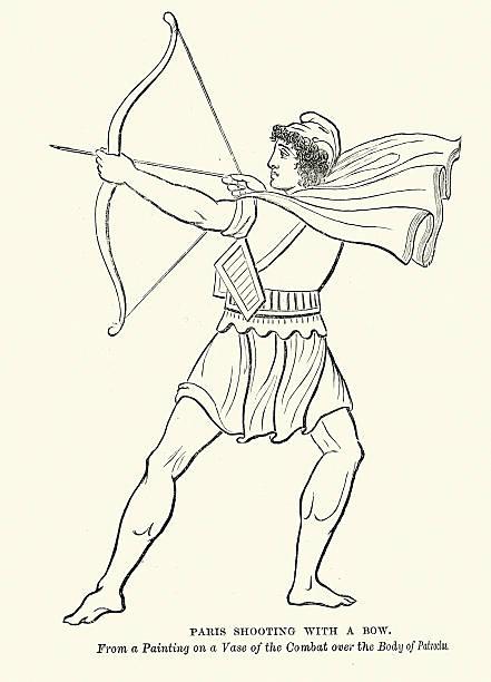 Drawing Of Trojan War Illustrations, Royalty-Free Vector