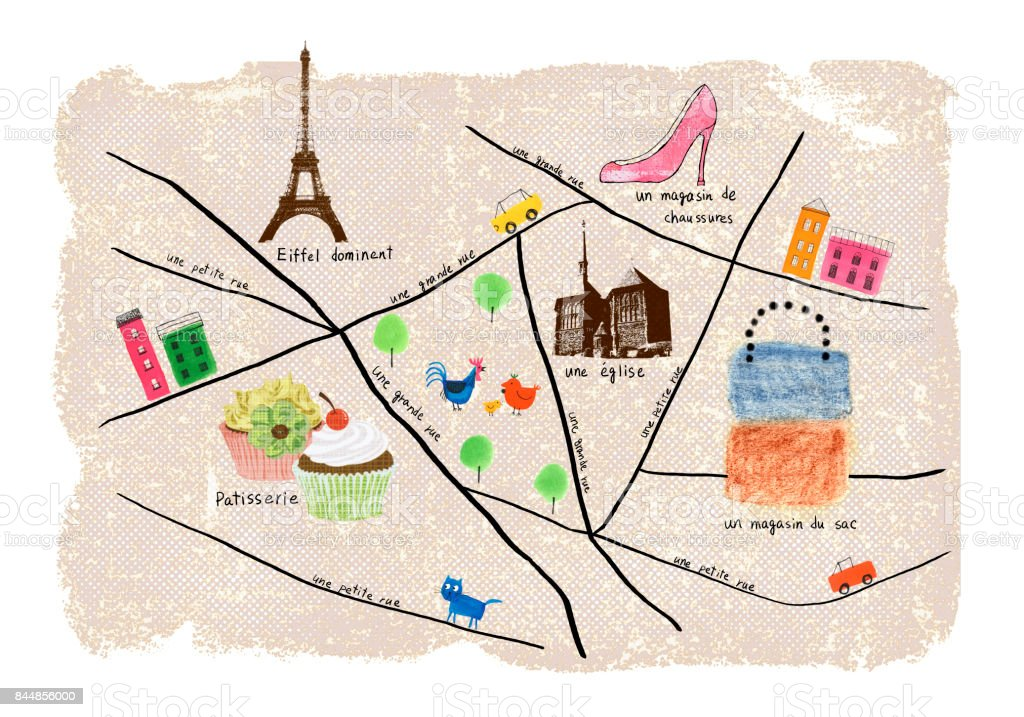 paris shopping map royalty free paris shopping map stock vector art more images