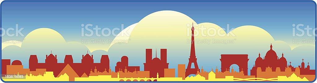 Paris Skyline royalty-free stock vector art