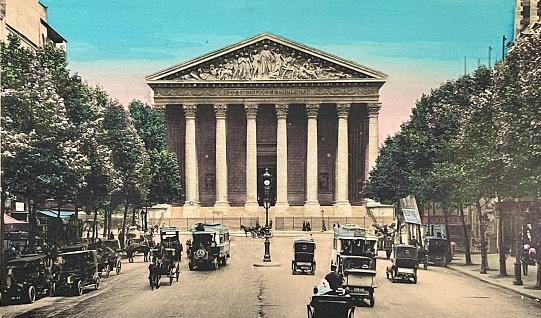 Paris, traffic around Madeleine church