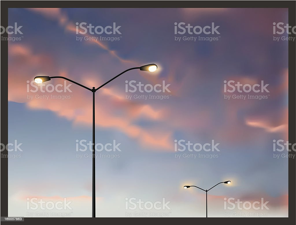 Parking Lot Sky vector art illustration