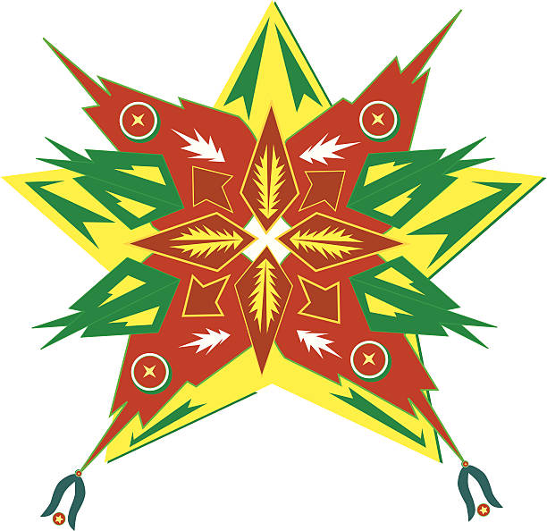 parol (philippinen weihnachten sterne - dumaguete stock-grafiken, -clipart, -cartoons und -symbole