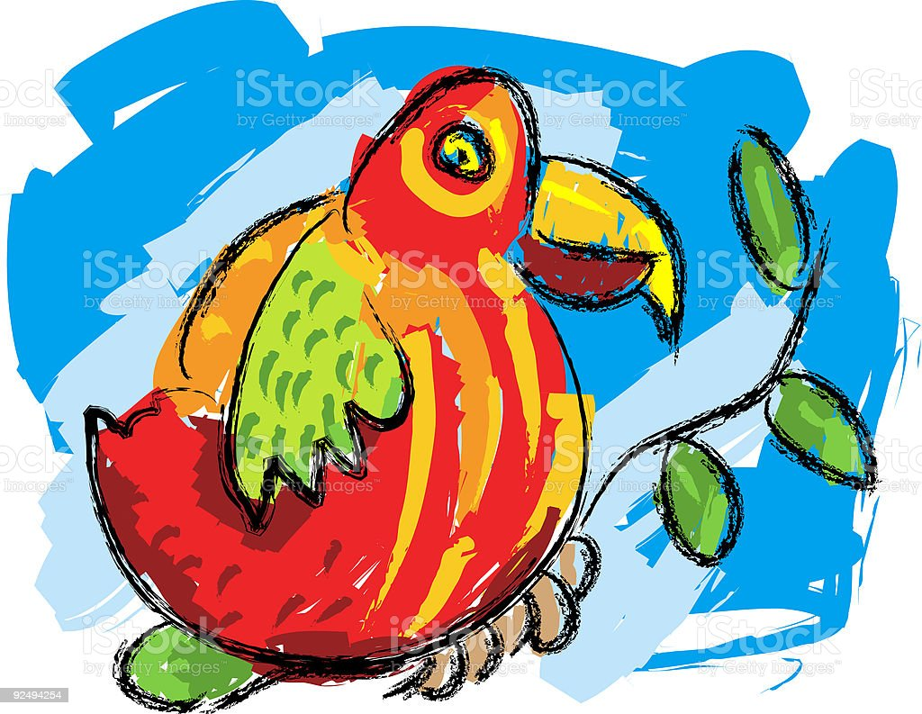 parrot royalty-free parrot stock vector art & more images of animal