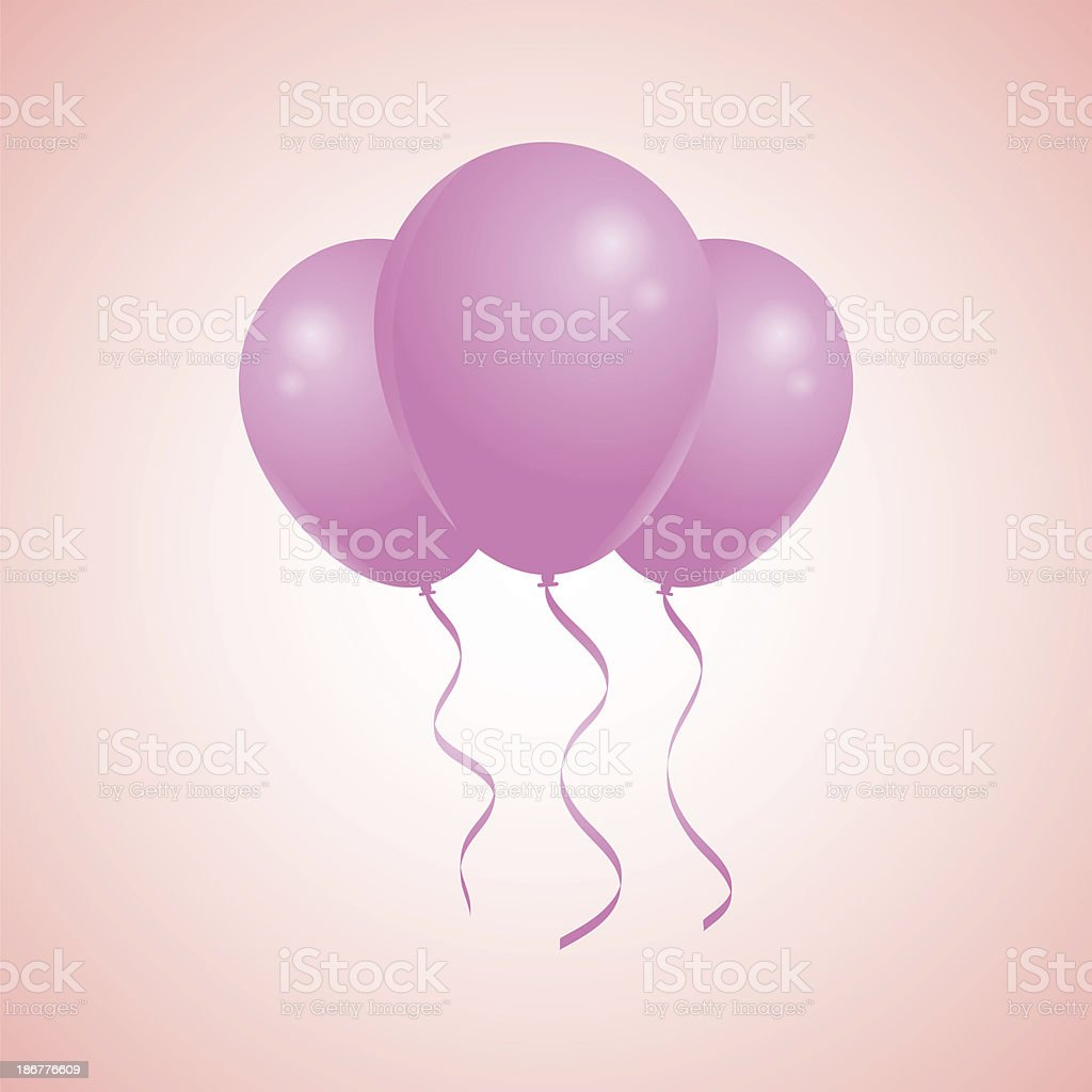 Party Balloons royalty-free stock vector art