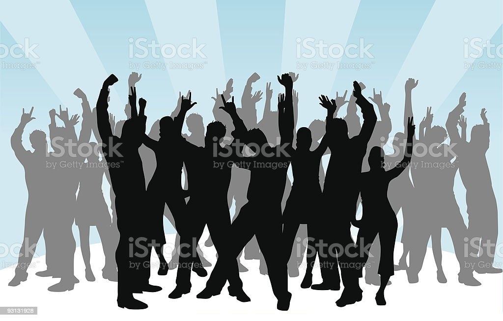 Party crowd royalty-free stock vector art