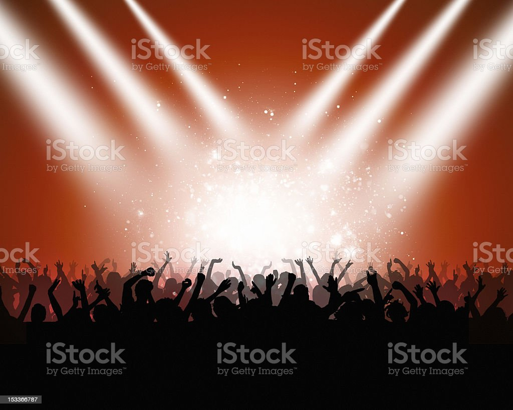 Party Crowd In Club royalty-free stock vector art