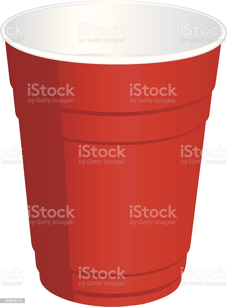 royalty free red plastic cup clip art vector images illustrations rh istockphoto com cup clipart free cup clipart png