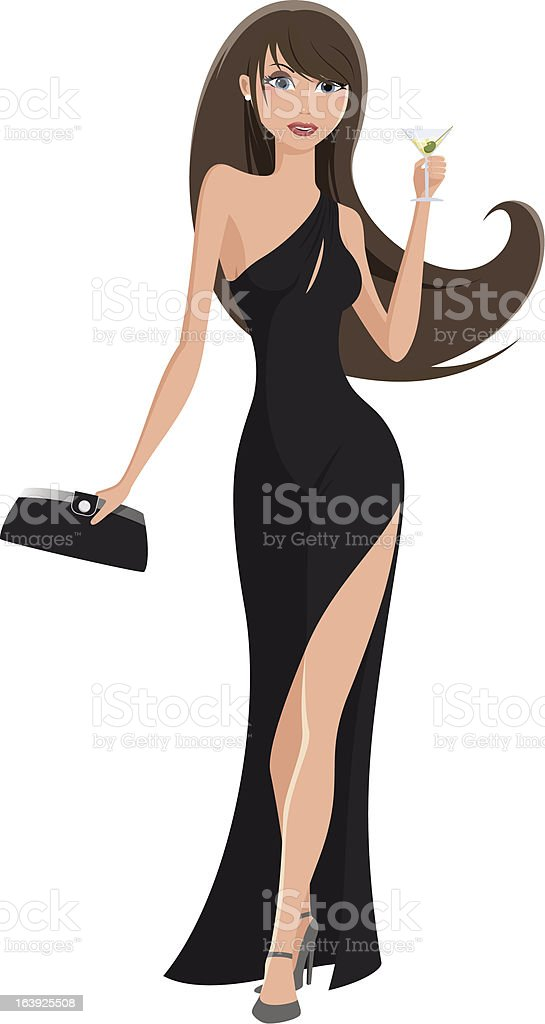Party girl royalty-free stock vector art