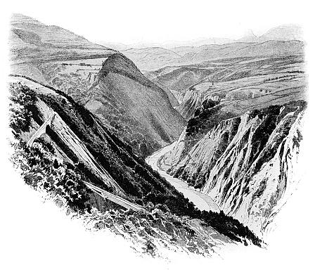 Passage de la Rivoire ,Bridge and Viaduct on Mont Aiguille