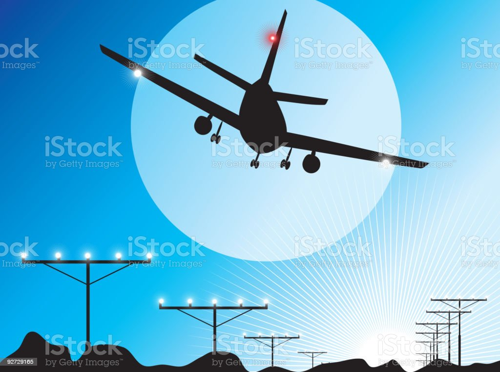 Passenger Airplane Background royalty-free passenger airplane background stock vector art & more images of air vehicle