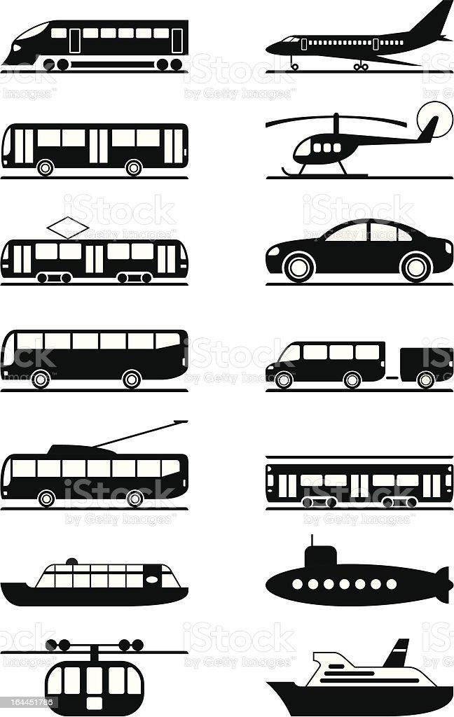 Passenger and public transportation vector art illustration