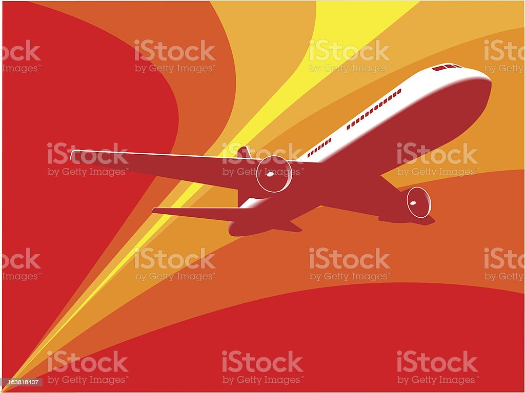 Passenger Jet Airplane royalty-free stock vector art