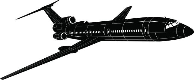 Passenger Jet silhouette