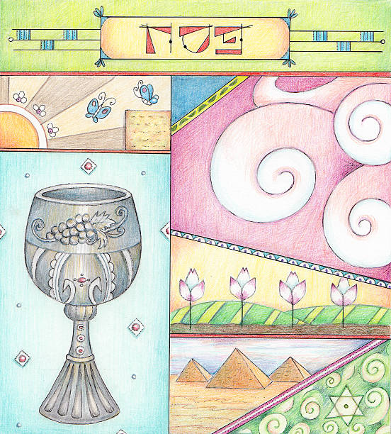 passover greetings - passover stock illustrations, clip art, cartoons, & icons