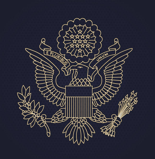 Uns Passport-seal – Vektorgrafik