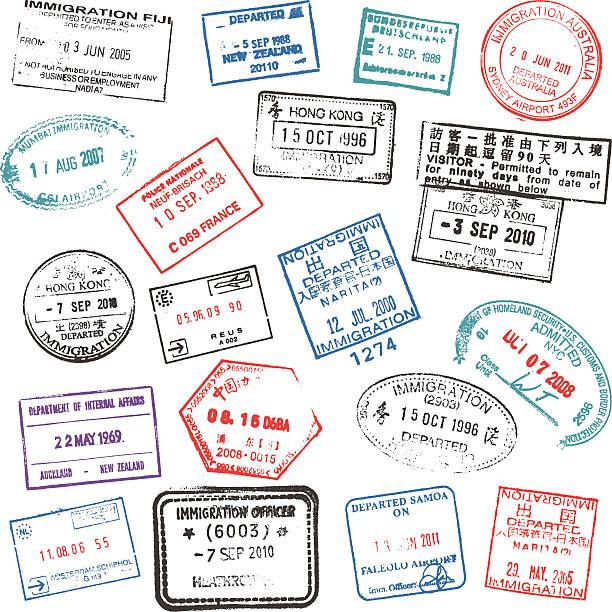 Pass-Stempel – Vektorgrafik