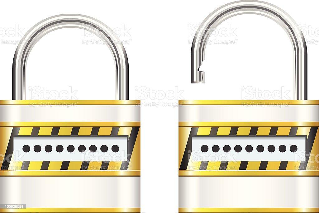 Password Security royalty-free stock vector art