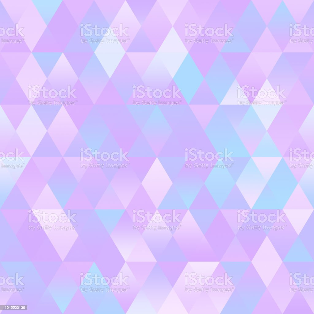Pastel Colorful Ombre Geometric Background Triangle Seamless Pattern vector art illustration