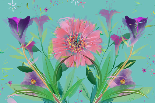 Pastel floral romantic background