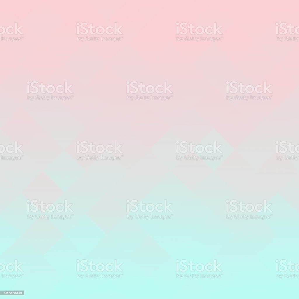 Pastel Ombre Millennial Pink Mint Gradient Background Abstract spring soft blurry template vector art illustration