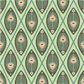 Pastel pattern peacock butterfly