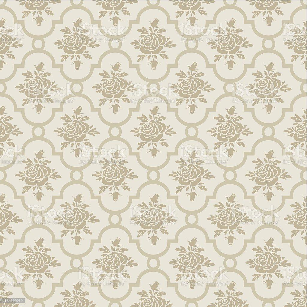 Pastel romantic roses seamless pattern royalty-free stock vector art