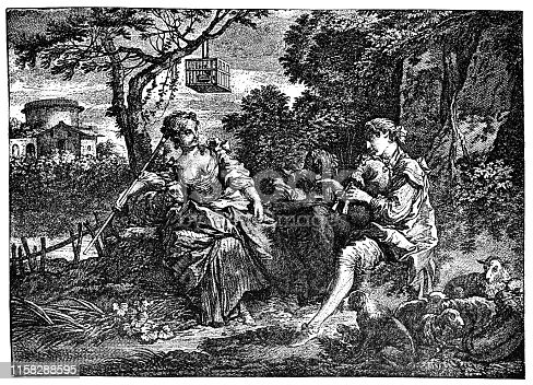 istock Pastoral Love by Francois Boucher - 18th Century 1158288595