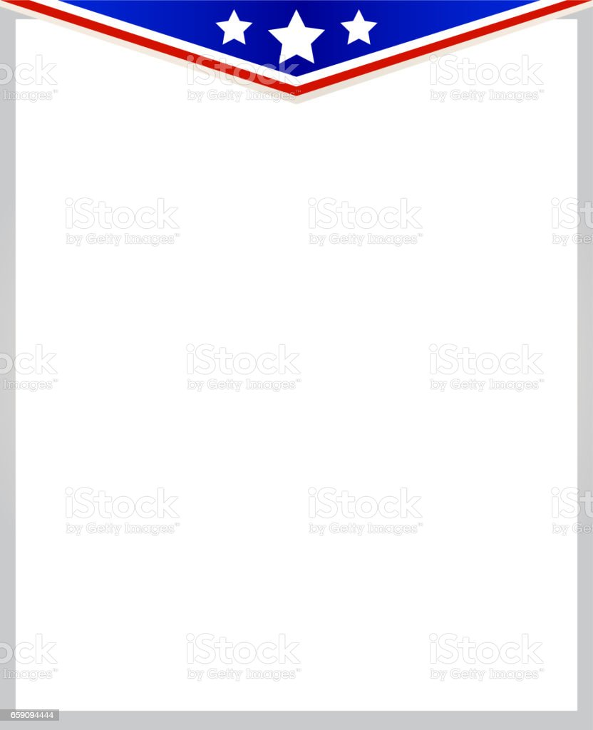 patriotic american frame template stock vector art 659094444 istock
