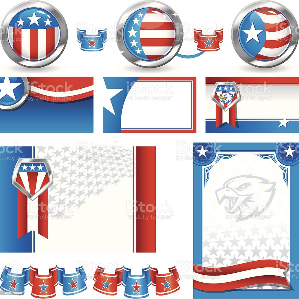 Patriotic Elements vector art illustration