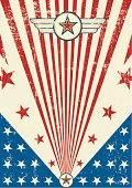 Patriotic scratch poster