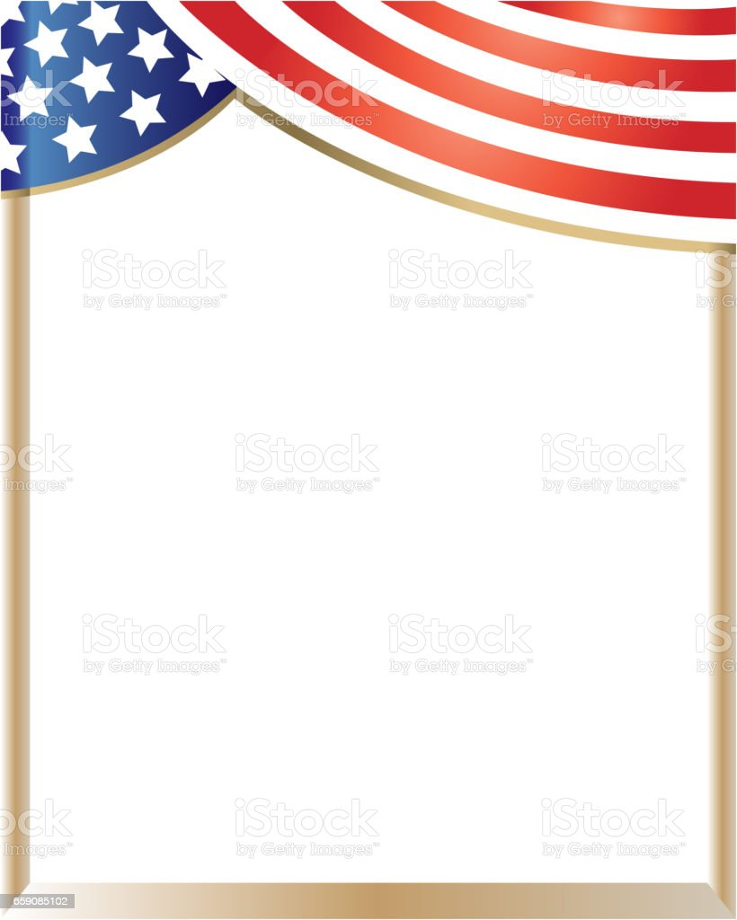 patriotic usa flag border stock vector art more images of abstract