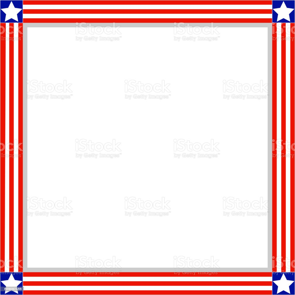 Patriotic Clip Art Frames - Real Clipart And Vector Graphics •